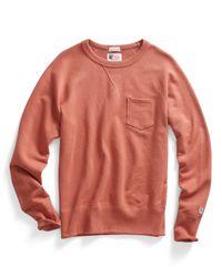 Todd Snyder | Pink Pocket Sweatshirt In Coral for Men | Lyst