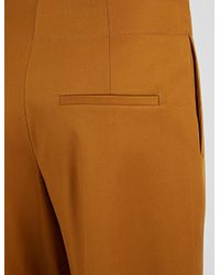 JOSEPH - Brown Stretch Cotton Compact Ika Trouser - Lyst