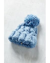 Urban Outfitters - Blue Birdseye Oversized Chunky Beanie - Lyst