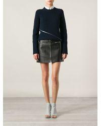 Alexander Wang - Black Lambskin Mini Skirt - Lyst