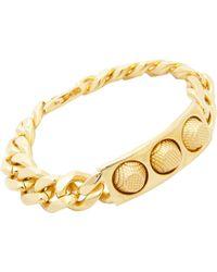 Balenciaga | Metallic Studded Id Bracelet | Lyst