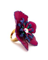 Erickson Beamon | Purple Urban Jungle Ring Pink Multi | Lyst