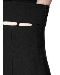 Emilio Pucci - Black Cutout Panel Stretch Crepe Camisole Dress - Lyst