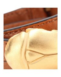 Valentino - Metallic Scarab Leather Wrap Bracelet - Lyst