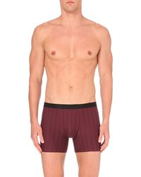 Hanro | Purple Striped Stretch-cotton Trunks for Men | Lyst