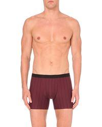 Hanro - Purple Striped Stretch-cotton Trunks for Men - Lyst