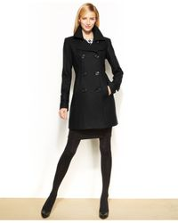 Anne Klein - Black Wool Peacoat - Lyst