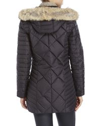 Marc New York | Black Kameron Real Fur Trim Puffer Coat | Lyst