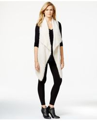 Kensie | White Space-dye Asymmetrical Sweater Vest | Lyst