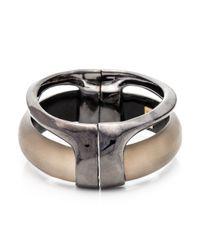 Alexis Bittar | Metallic Ruthenium Stacked Hinged Bracelet | Lyst