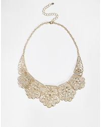 Oasis | Metallic Lace Necklace | Lyst
