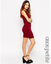 ASOS | Purple Exclusive Sleeveless Crop Top Bodycon Dress | Lyst