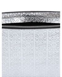 Loewe | Embossed Metallic Leather Pouch | Lyst