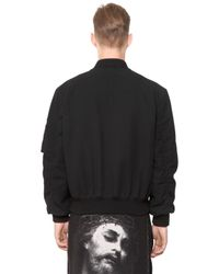 Givenchy | Black Cotton Seersucker Bomber Jacket for Men | Lyst