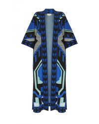 Temperley London | Blue Long Brooke Coat | Lyst
