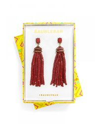 BaubleBar - Red Tiffany Tassel Drops-ruby - Lyst