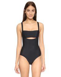 Zero + Maria Cornejo | Black Ila Swimsuit | Lyst