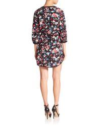 Parker - Black Mallory Printed Silk Dress - Lyst