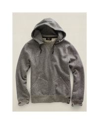 RRL - Black Fleece Pullover Hoodie for Men - Lyst