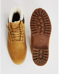 "Timberland | Brown Heritage 6"" Warm Lined Boot Tan for Men 