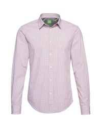BOSS Green - Red Regular-fit Casual Cotton Shirt 'c-burke' for Men - Lyst