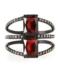 Oscar de la Renta | Black Large Octagon Crystal Bracelet | Lyst