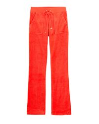 Juicy Couture | Bling Velour Track Pants - Red | Lyst