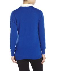 Magaschoni | Blue V-Neck Cashmere Sweater | Lyst