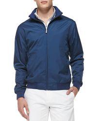 Peter Millar Black Austin Zip-front Jacket for men