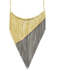 Iosselliani | Metallic Gold Plated Fringe Necklace | Lyst