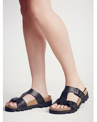 Free People | Black Solar Coaster Platform Sa | Lyst