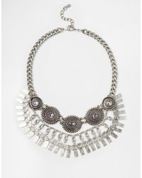 ALDO | Metallic Nydalidda Silver Necklace | Lyst