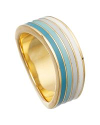 Astley Clarke - Blue Colour Wave Enamel 18ct Gold Vermeil Wide Ring - Lyst