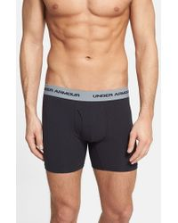 Under Armour | Black Charged Cotton Boxer Briefs, (3-pack) for Men | Lyst