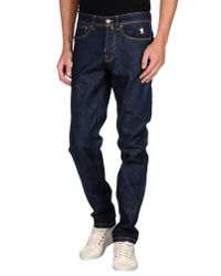 Jaggy - Blue Denim Trousers for Men - Lyst