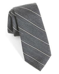 Calibrate - Gray Woven Silk Blend Tie for Men - Lyst