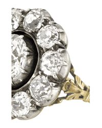 Olivia Collings | Metallic 1860S 18-Karat Gold Diamond Ring | Lyst