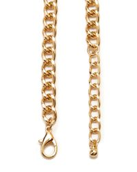 Forever 21 | Metallic Hammered Crescent Bib Necklace | Lyst