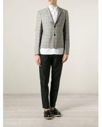 Kris Van Assche | Gray Checked Blazer for Men | Lyst