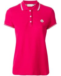 Moncler - Red Classic Polo Shirt - Lyst