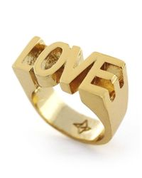 BCBGeneration - Metallic Love Goldtone Ring - Lyst