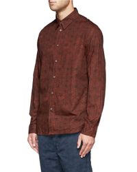 Paul Smith - Red Sketch Hexagon Print Poplin Shirt for Men - Lyst