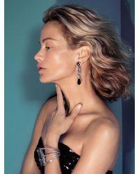 Oscar de la Renta - Black Diamond Pendant Drop Earrings - Lyst