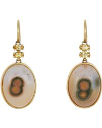 Sharon Khazzam - Metallic Gemstone Drop Earrings-colorless - Lyst