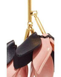 Marni | Pink Misty Rose Leather Earrings | Lyst
