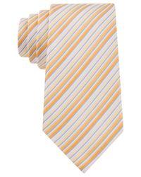 Geoffrey Beene - Yellow Stripe Done Right Tie for Men - Lyst