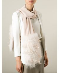 Yves Salomon | Natural Feather Down Scarf | Lyst