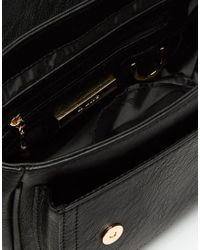 Dune | Black Saddle Bag With Braid Detail | Lyst