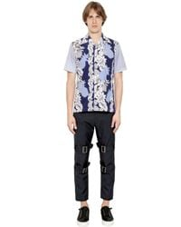 Comme des Garçons - Blue Hawaii Printed Patchwork Poplin Shirt for Men - Lyst