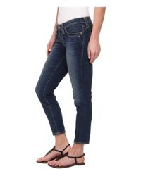 "Big Star - Blue Remy Skinny 26"" Crop In Meyer - Lyst"
